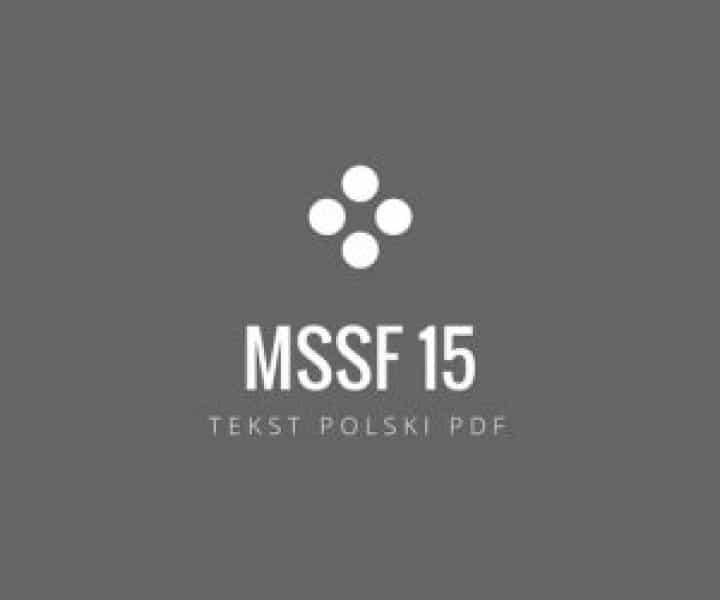 MSSF 15 polski tekst pdf